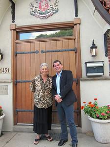 Patricia French, BMNECC Chairwoman Emerita, and Bulgarian Consul General Radoslav Totchev.  July 17, 2012 at the Bulgarian Cultural Center.