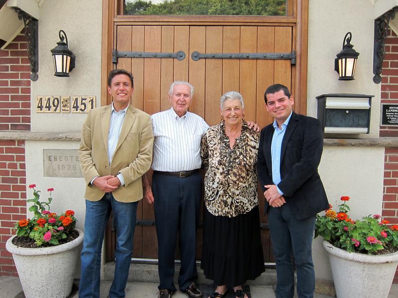 From left: Angel Cholakov, Foreign Policy Advisor to the Bulgarian Prime Minister; Walter Kolar, BMNECC Executive Director; Patricia French, BMNECC Chairwoman Emerita; and Bulgarian Consul General Radoslav Totchev.  July 17, 2012 at the Bulgarian Cultural Center.