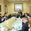 Education Secretary Betsy DeVos listens as Betzalel Krasnow, a Darchei alumnus and the 2018 Valedictorian of Touro University's Lander College of Arts and Sciences addresses a roundtable meeting of parents, teachers, alumni and board members of Yeshiva Darchei Torah.
