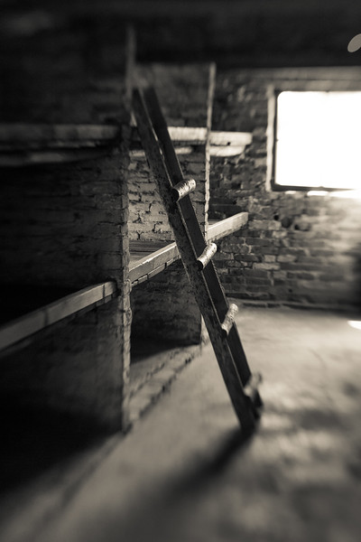 Brick barracks for women designed for 40 held over 200. Dirt floors turned into infested quagmires in the rain. Mattresses were straw spread out on wooden planks or on the floor. Dirty, threadbare blankets were the only protection from the cold.