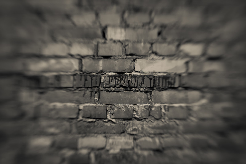 A barracks brick wall.