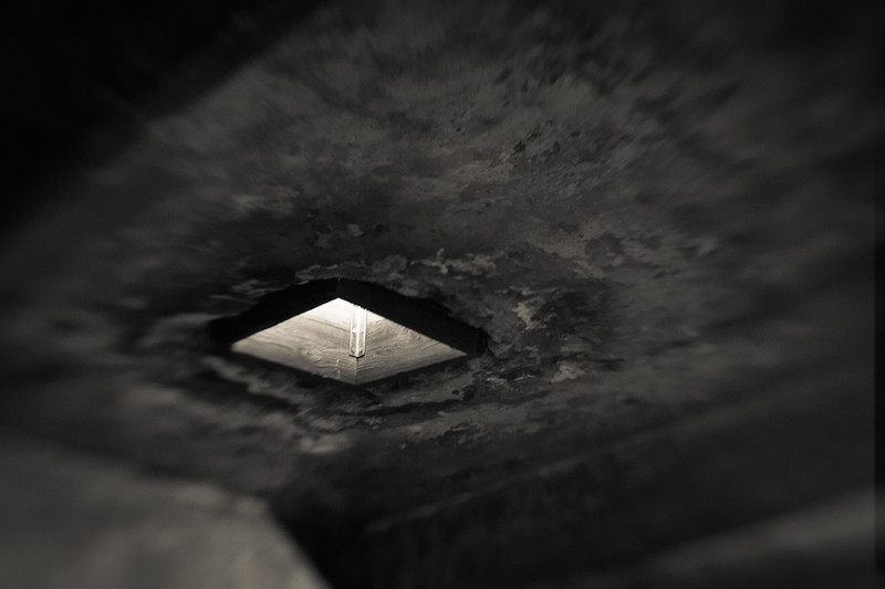 Prisoners were led into the 'showers' that even contained false water spigots. Cyclone B was introduced through openings in the gas chamber ceiling. Death was in 15-20 minutes after which gold tooth fillings, rings, earrings and hair were removed from the bodies before cremation.