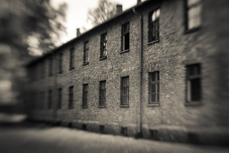 Originally barracks for Polish soldiers, the Auschwitz buildings were expanded with slave labor and put to a more sinister use.