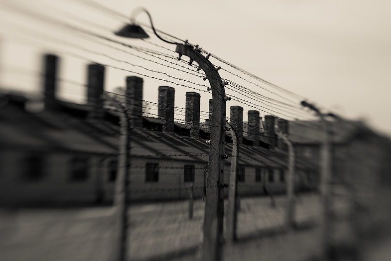 Those selected to survive were greeted by two rows of barbed wire, lights illuminated all night, and chimneys on barracks lined up like headstones, though no memorials were intended for this place.