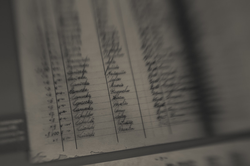 Meticulous records, both handwritten and typed, tracked every prisoner and their disposition. The 'Book of Death' recorded fictitious causes and times of death at 5 to 10 minute intervals. Over 400,000 individuals were recorded in this way.
