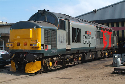 37611 carries what I think is the most exciting livery to be seen on the UK rail network currently.