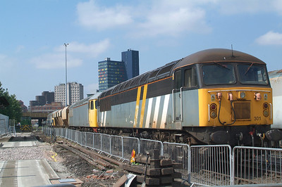 Whilst I regard 37611 as the smartest  loco on show, 56301 was my favourite , the Cl56Group loco having returned from Tyseley just a couple of days before. 56081 is tucked in behind.