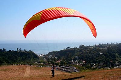 Paragliding in Elings Park http://www.flyaboveall.com/paraglidingtandem.htm