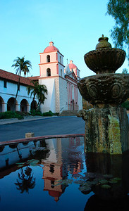 """Famous Santa Barbara Mission, """"Queen of the Missions for its graceful beauty.""""  http://www.santabarbara.com/points_of_interest/mission/"""