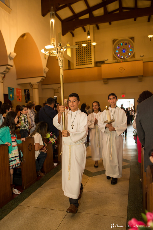 May 6, 2017 First Holy Communion.  Church of Visitation.  Los Angeles, California