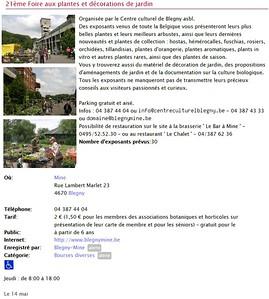 Page de www.QueFaire.be
