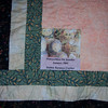 6/06 Visiting Oakland - New label for Double Wedding Ring quilt
