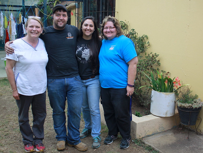Cindy, Shane and Brooke Burkholder and Maureen Casey