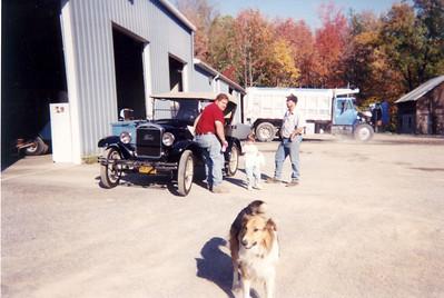 2002-10-01 Dad and GT take Model T to Latrobe, PA