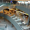 food court at the airport mall at the Zurich airport
