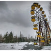 The ruined ferris wheel inside the 30-kilometer Chernobyl Exclusion Zone, Pripyat, Ukraine.