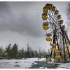 The ruined ferris wheel inside the 30-kilometer Chernobyl Exclusion Zone, Pripyat, Ukraine.