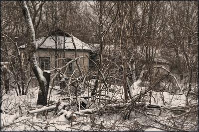 Abandoned house inside the 30 kilometer Chernobyl exclusion zone, Ukraine.
