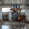 Kitchen inside the 30 kilometer Chernobyl exclusion zone, Pripyat, Ukraine.