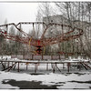 Playground inside the 30-kilometer Chernobyl Exclusion Zone, Pripyat, Ukraine.