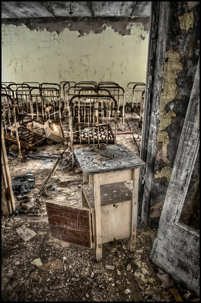 School inside the 30-kilometer Chernobyl Exclusion Zone, Pripyat, Ukraine.