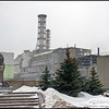 Reactor four and the sarcophagus at the Chernobyl power plant, Ukraine.