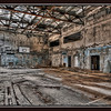 The gymnasium at the Palace of Culture, inside the 30 kilometer Chernobyl exclusion zone, Pripyat, Ukraine - HDR.