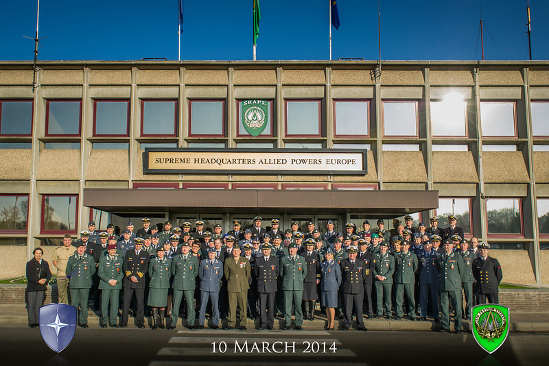 NOR Defence College Group photo on the 10th March 2014 (NATO photo/ Sgt. Emily Langer.DEU Army)