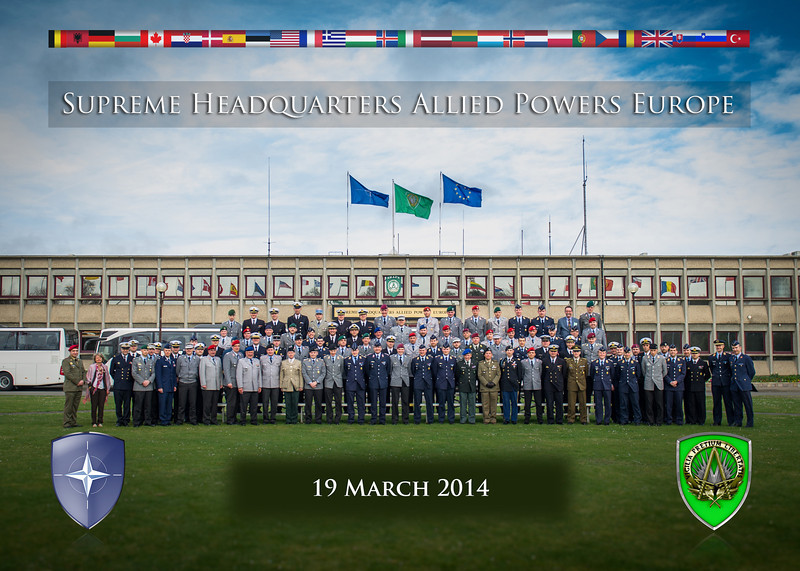 German Defence College Group photo on the 19th March 2014 (NATO photo/ Sgt. Emily Langer.DEU Army)