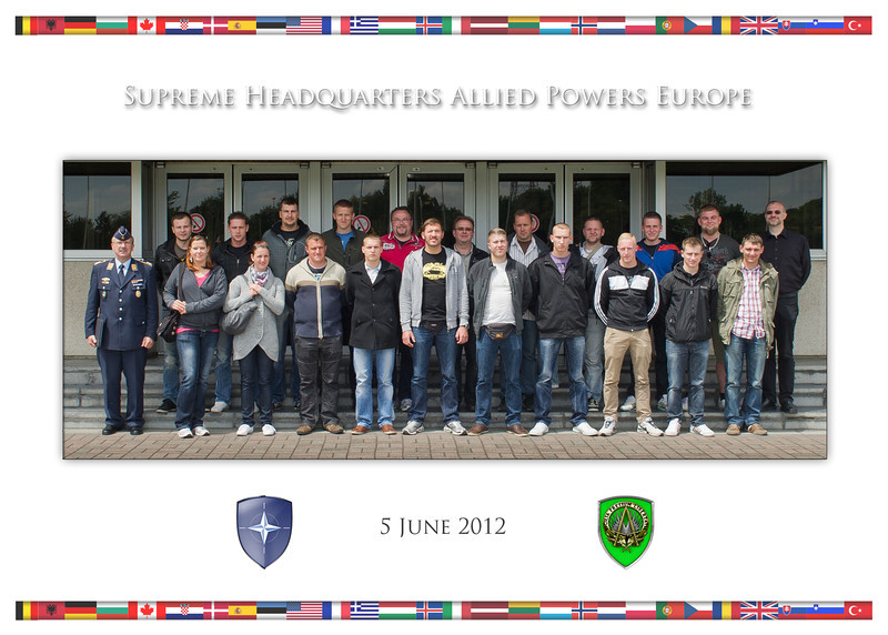5 June, 2012. Group Photo of DEU A Flying Corps during visit to Supreme Headquarters Allied Powers Europe.