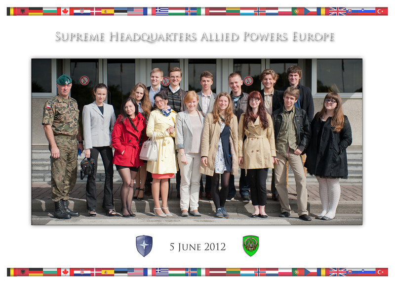 5 June, 2012. Group Photo of students from Belarus during visit to Supreme Headquarters Allied Powers Europe.