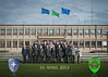 Photo of a group from DEU/UKR Armed Forces Diagloue in front of the SHAPE Mainbuilding.The 16th April 2013 (NATO photo by SGT Emily Langer, German Army)