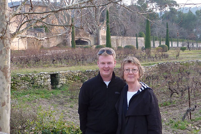Neil Pulbrook and Sheryl, Chateau la Canorgue, Bonnieux