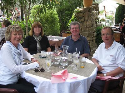 Sheryl, Gayl, Chris, Michael, Auberge de Lagnes