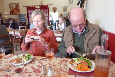 Christine and Tony Gordon, Cafe de la Gare, Bonnieux