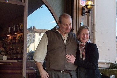 Christophe and Christine, Cafe le France, Apt