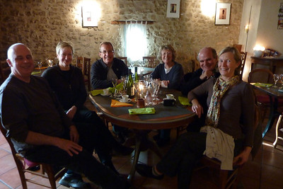 Peter, Judy, Michael, Sheryl, Tony and Christine, Auberge de Lagnes
