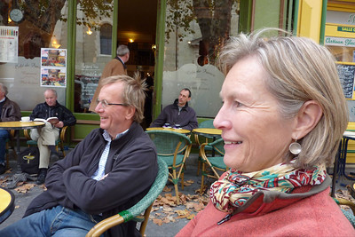 Michael and Christine, Cafe de France, l'Isle sur la Sorgue