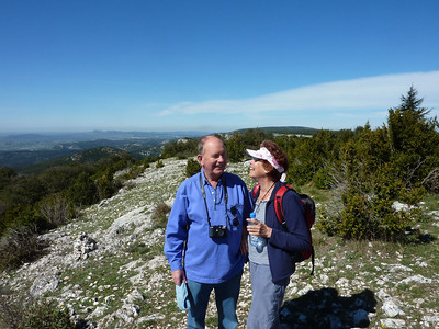 Paddy and Sue Ryan, top of Luberon
