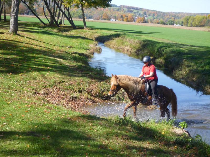 Andrea and Vikingur playing in Sugar Creek