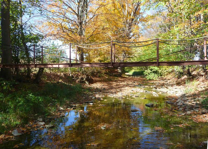 Cable bridge over Sugar Creek