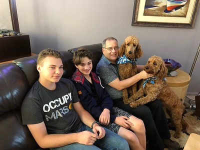 Pictures shows Ethan, Brady, Steve, Brandy and Beckett, left to right.