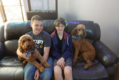Posing with the pups.