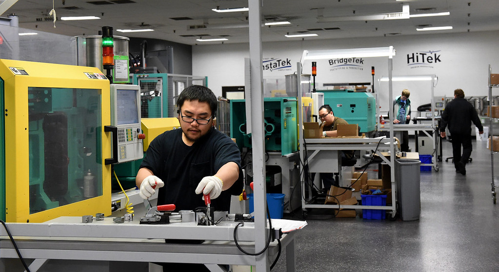 . SelfEco products are made in this manufacturing facility at Vista Tek in Stillwater. (Pioneer Press: Jean Pieri)