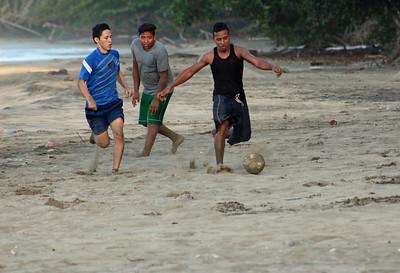 Beach Barefoot Soccer