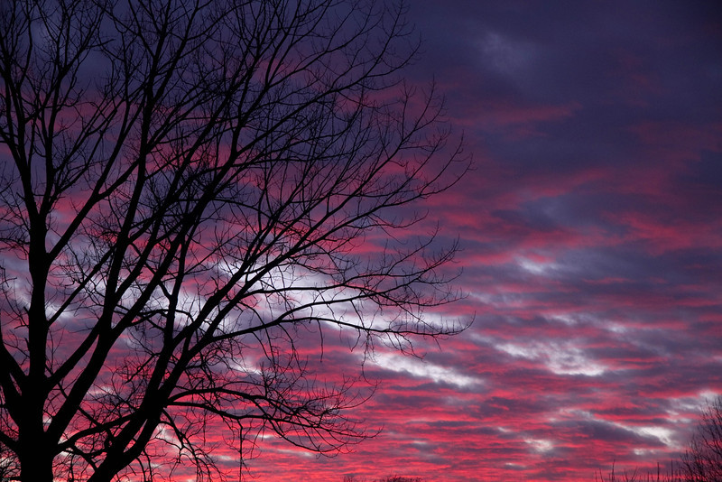 Mid-winter prairie sunset