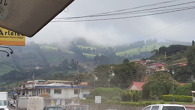 Morning Fog on Hills Surrounding Town