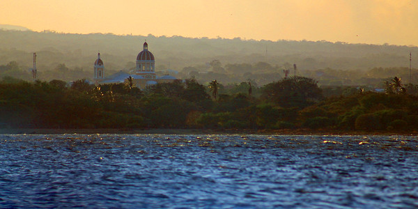 Granada at Sunset from Lake Nicaragua