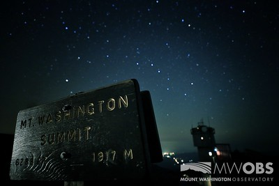 Big Dipper and the summit sign