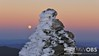 Supermoon Rising with the Summit Cairn